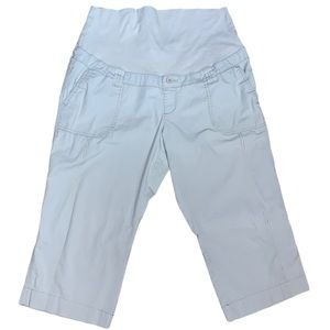 Thyme Maternity Light Khaki Cropped Pants